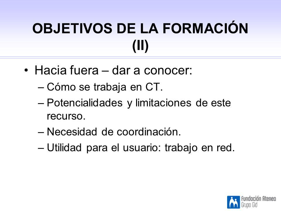 OBJETIVOS DE LA FORMACIÓN (II)