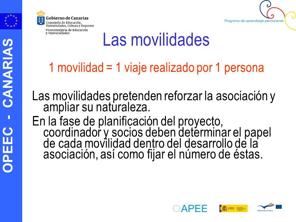 1 movilidad = 1 viaje realizado por 1 persona