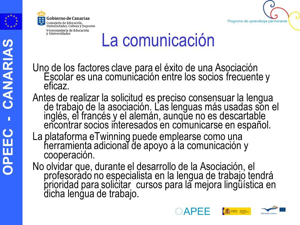 La comunicación Uno de los factores clave para el éxito de una Asociación Escolar es una comunicación entre los socios frecuente y eficaz.