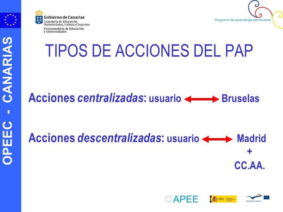 TIPOS DE ACCIONES DEL PAP