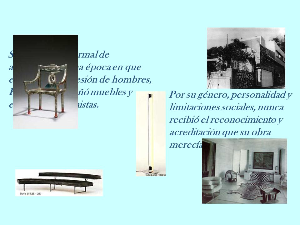 Sin formación formal de arquitecto, en una época en que esa era una profesión de hombres, Eileen Gray diseñó muebles y edificios modernistas.