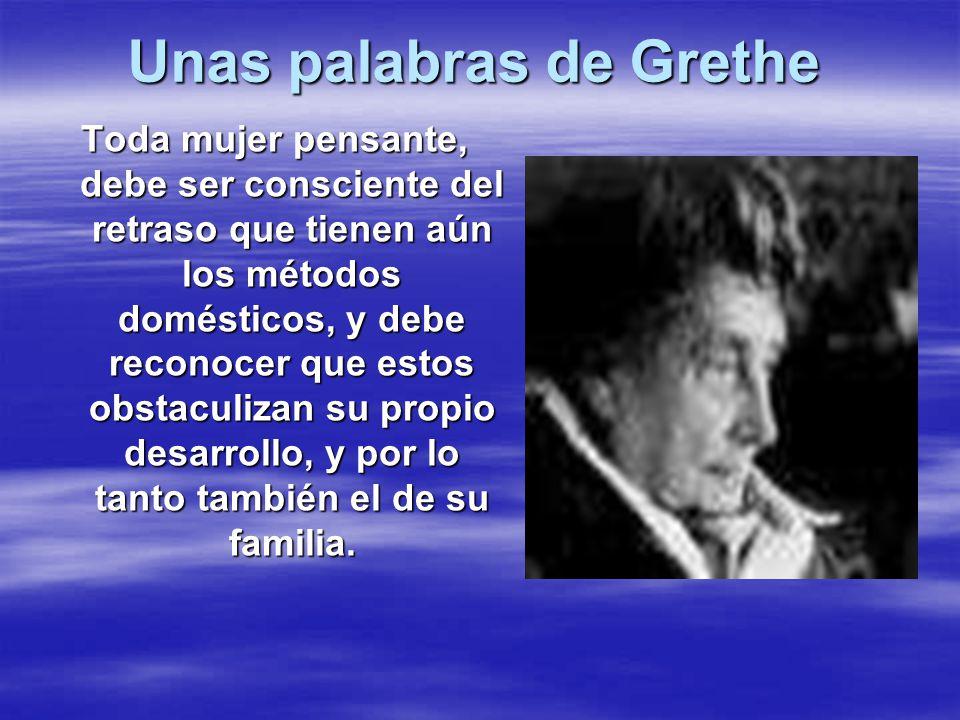 Unas palabras de Grethe