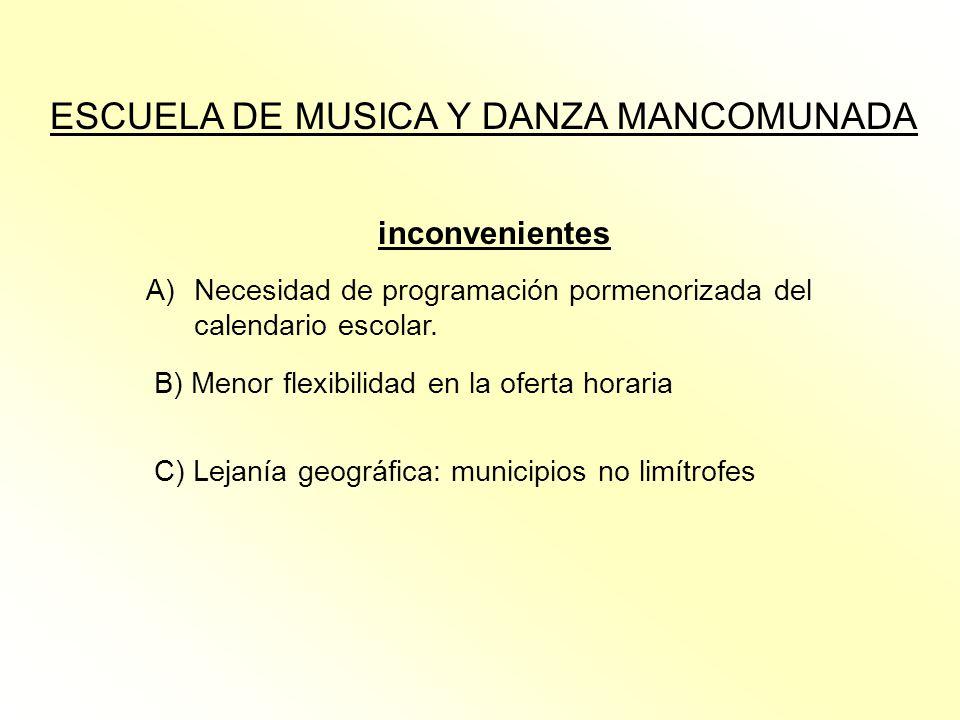 ESCUELA DE MUSICA Y DANZA MANCOMUNADA