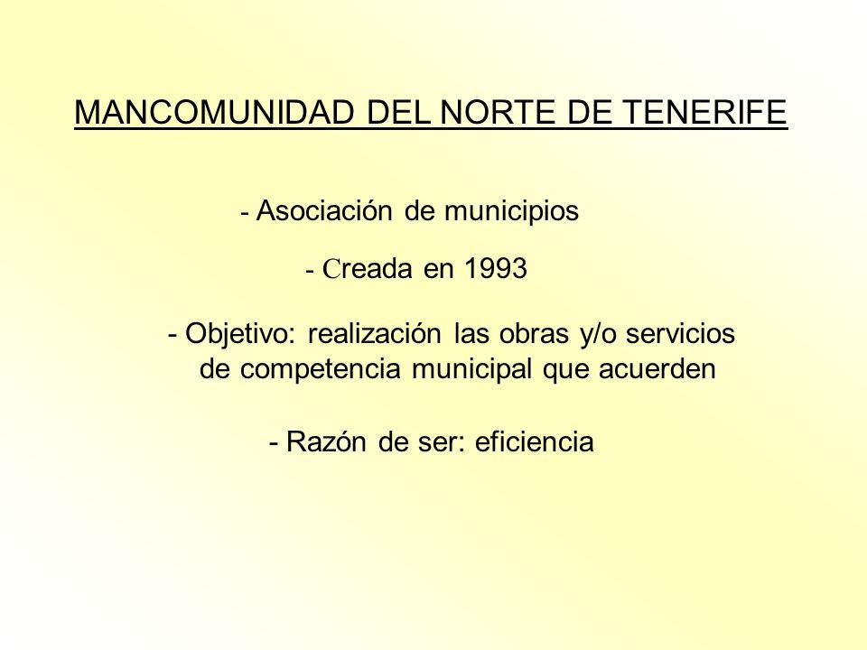 MANCOMUNIDAD DEL NORTE DE TENERIFE