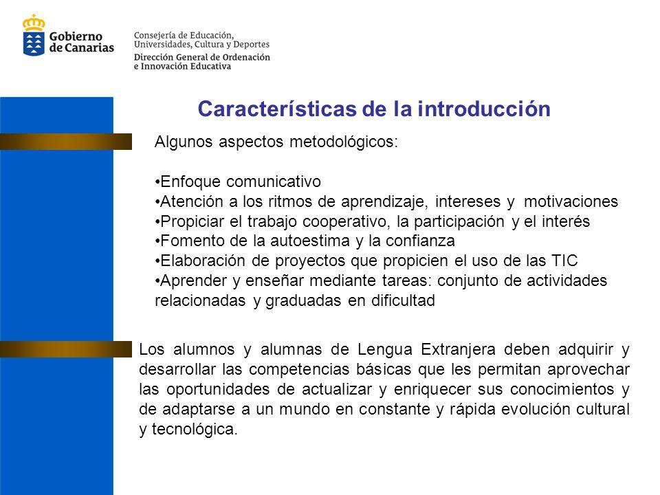 Características de la introducción