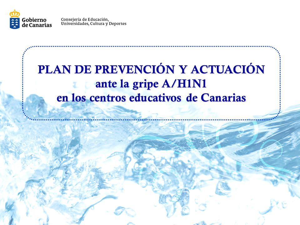 PLAN DE PREVENCIÓN Y ACTUACIÓN en los centros educativos de Canarias