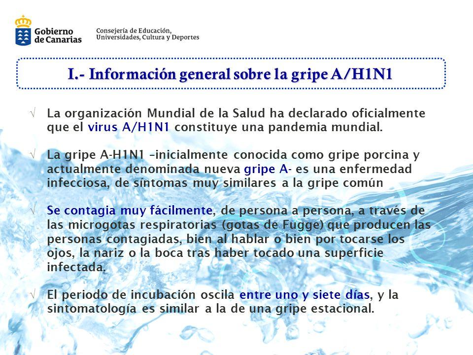 I.- Información general sobre la gripe A/H1N1