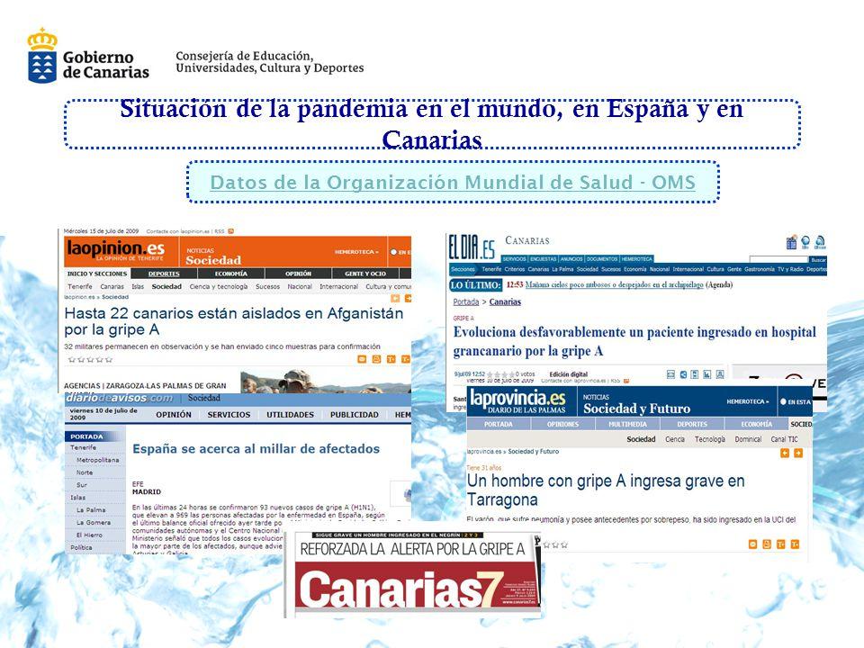 Situación de la pandemia en el mundo, en España y en Canarias