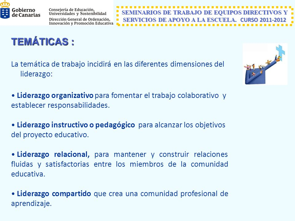 SEMINARIOS DE TRABAJO DE EQUIPOS DIRECTIVOS Y SERVICIOS DE APOYO A LA ESCUELA. CURSO 2011-2012