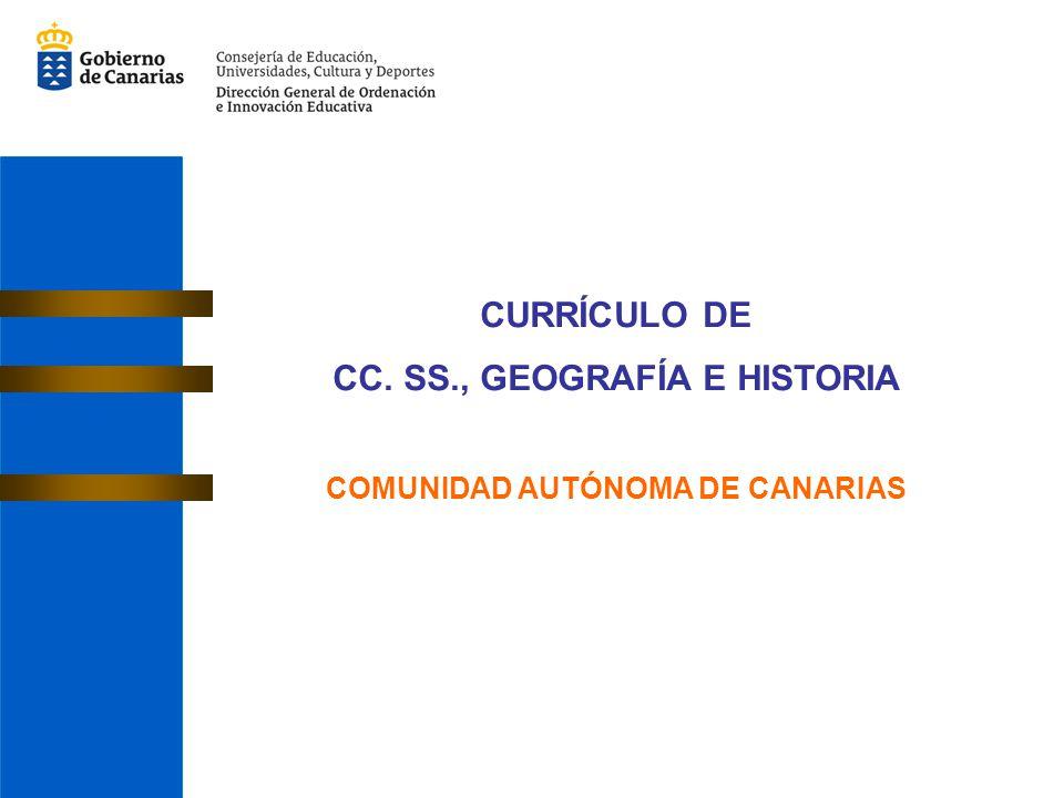 CC. SS., GEOGRAFÍA E HISTORIA COMUNIDAD AUTÓNOMA DE CANARIAS