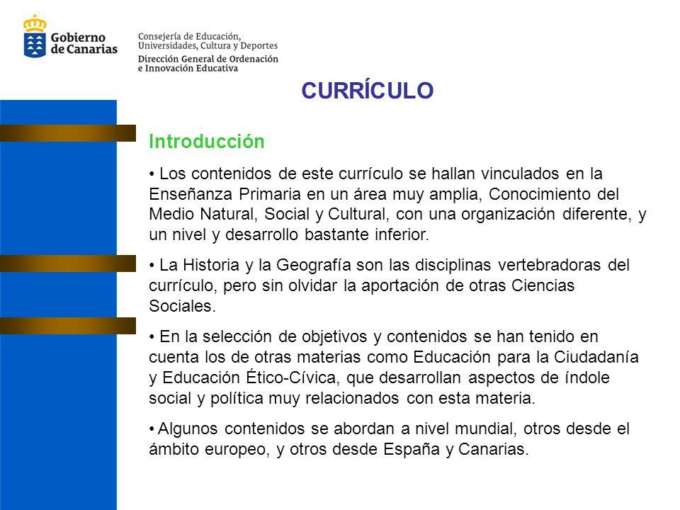 CURRÍCULO Introducción