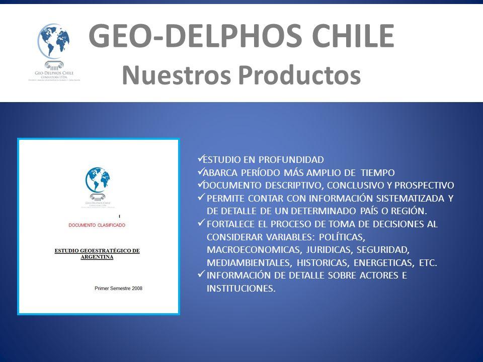 GEO-DELPHOS CHILE Nuestros Productos ESTUDIO EN PROFUNDIDAD