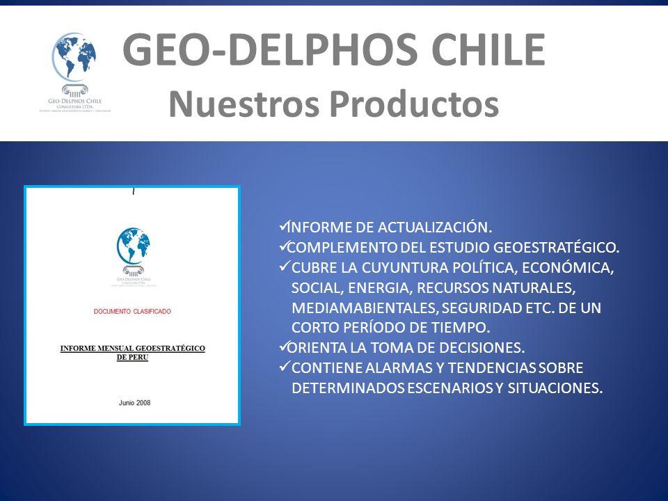 GEO-DELPHOS CHILE Nuestros Productos INFORME DE ACTUALIZACIÓN.