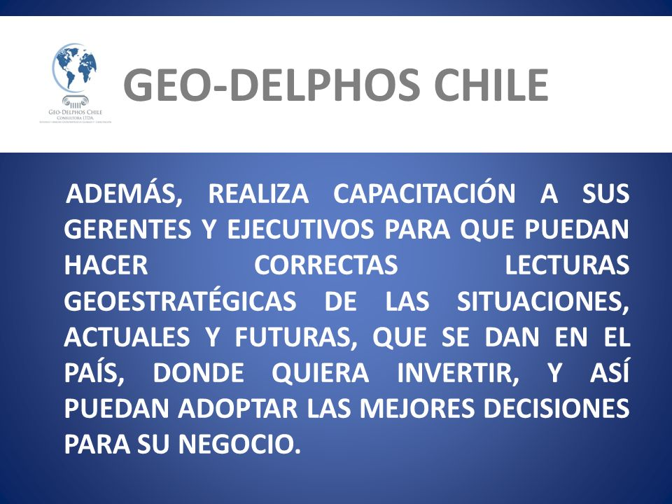 GEO-DELPHOS CHILE