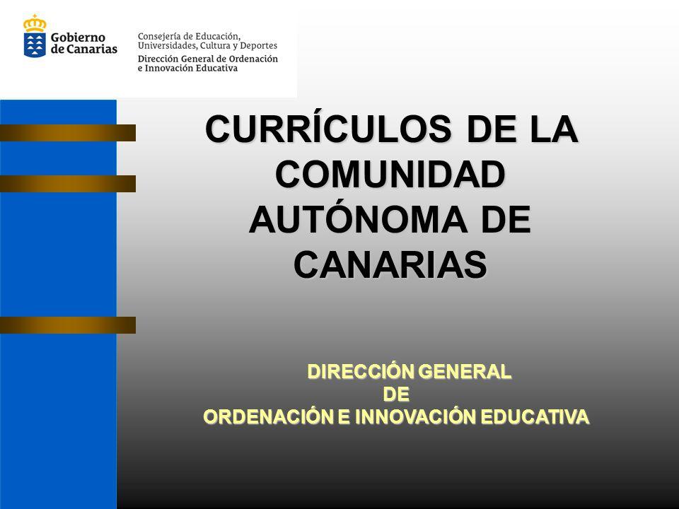 CURRÍCULOS DE LA COMUNIDAD AUTÓNOMA DE CANARIAS