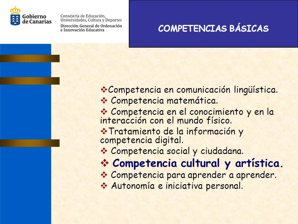 Competencia cultural y artística.