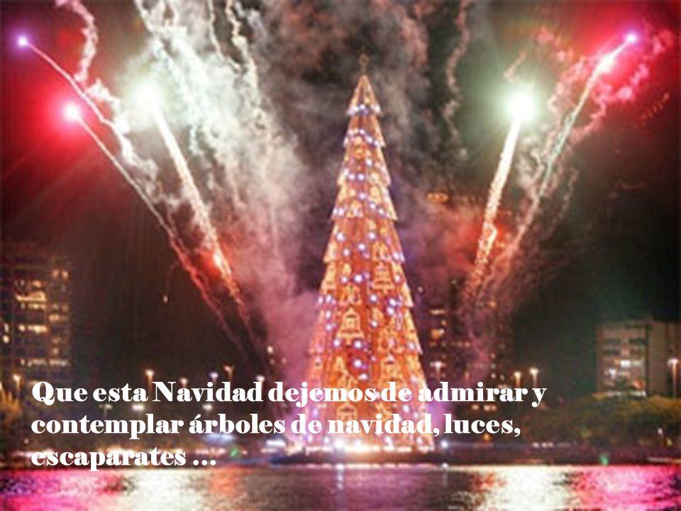 Que esta Navidad dejemos de admirar y contemplar árboles de navidad, luces, escaparates …