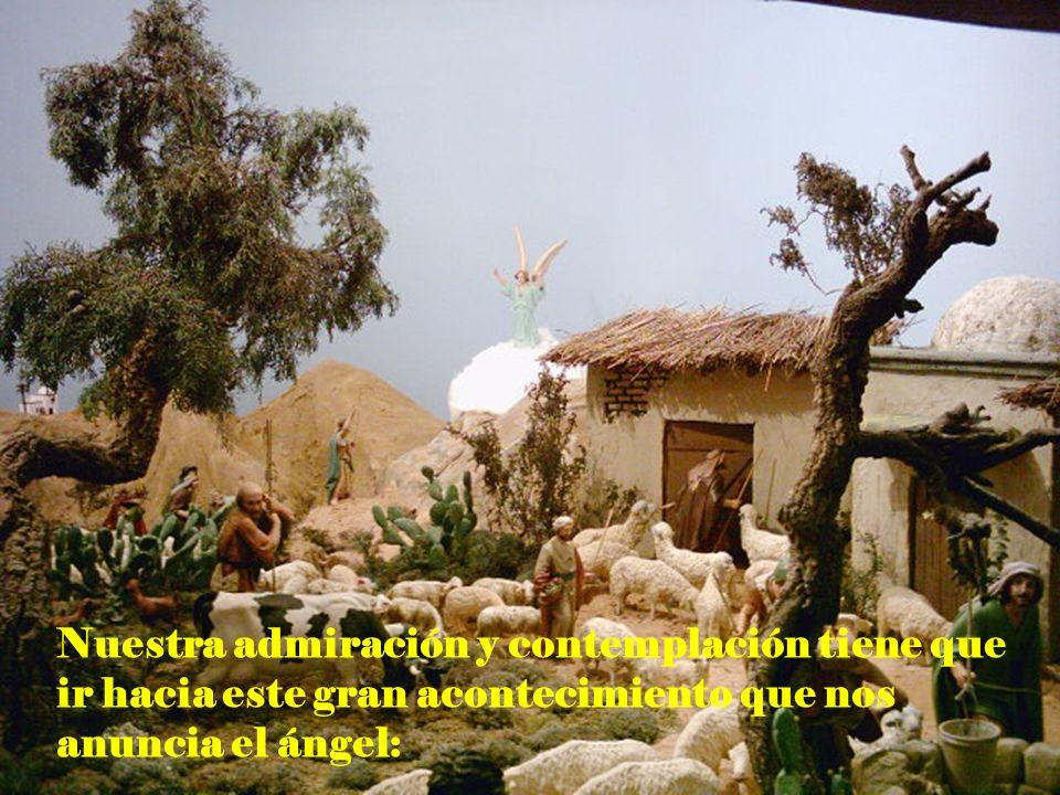Nuestra admiración y contemplación tiene que ir hacia este gran acontecimiento que nos anuncia el ángel: