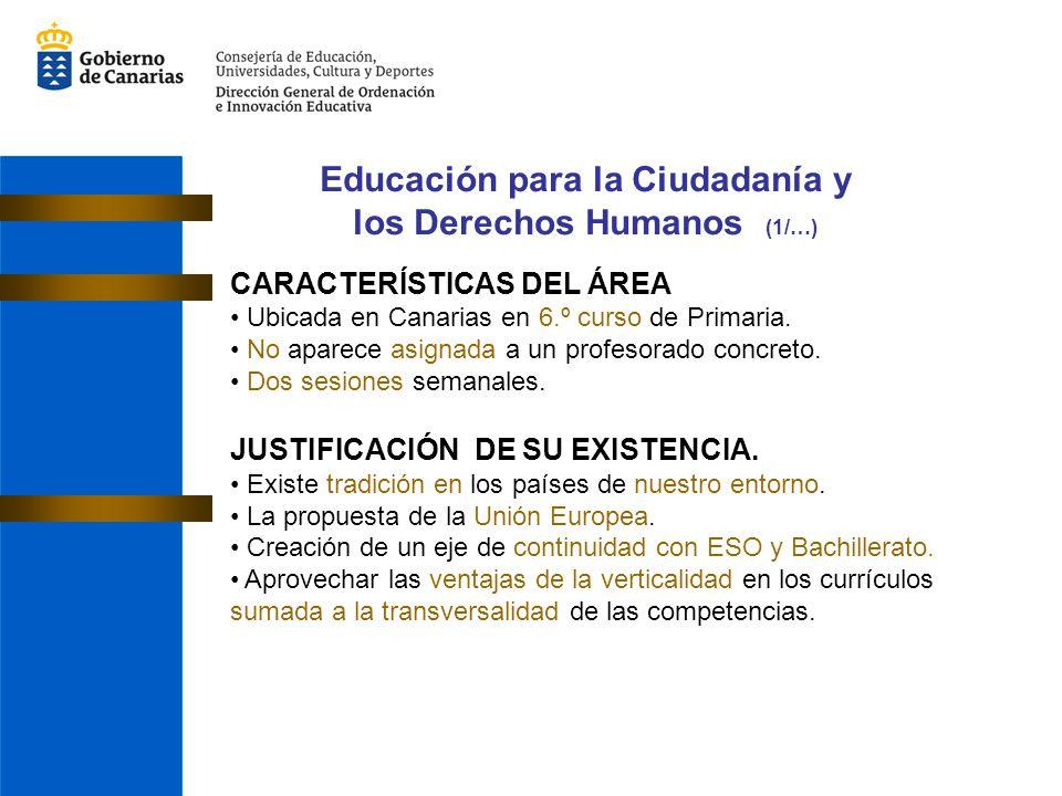 Educación para la Ciudadanía y los Derechos Humanos (1/…)