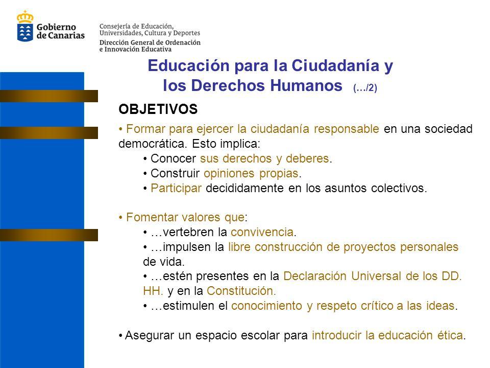 Educación para la Ciudadanía y los Derechos Humanos (…/2)