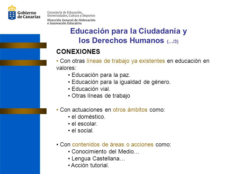 Educación para la Ciudadanía y los Derechos Humanos (…/3)