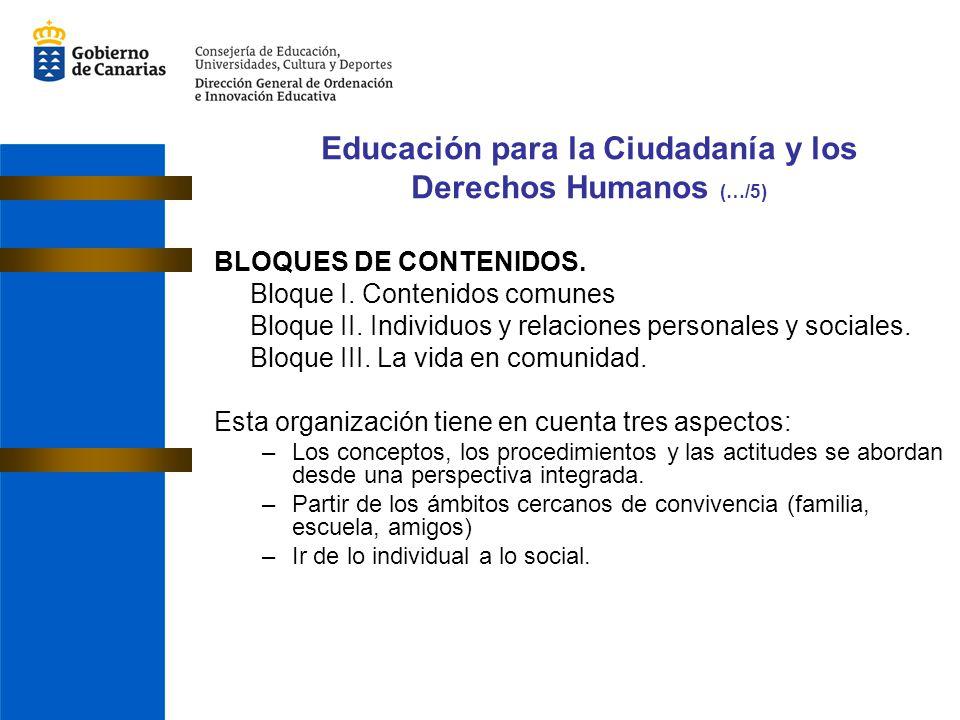 Educación para la Ciudadanía y los Derechos Humanos (…/5)