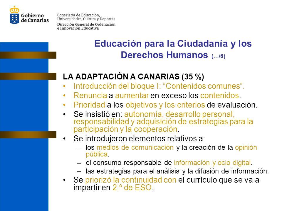 Educación para la Ciudadanía y los Derechos Humanos (…/6)