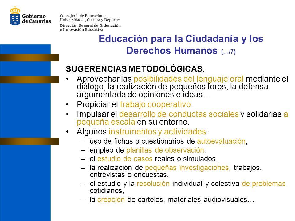 Educación para la Ciudadanía y los Derechos Humanos (…/7)