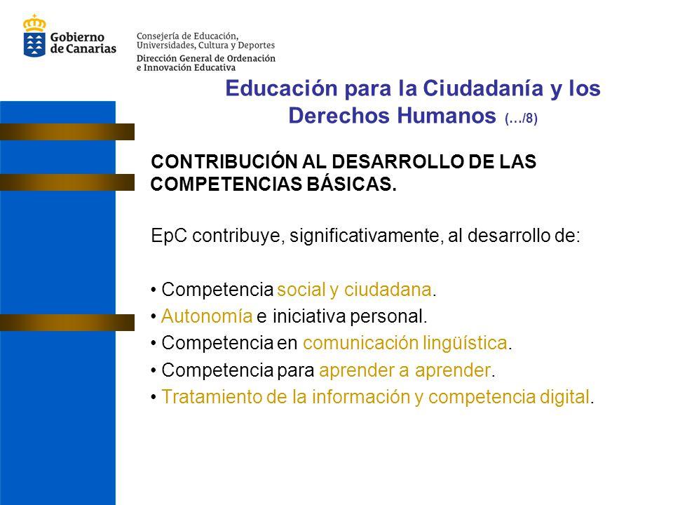 Educación para la Ciudadanía y los Derechos Humanos (…/8)