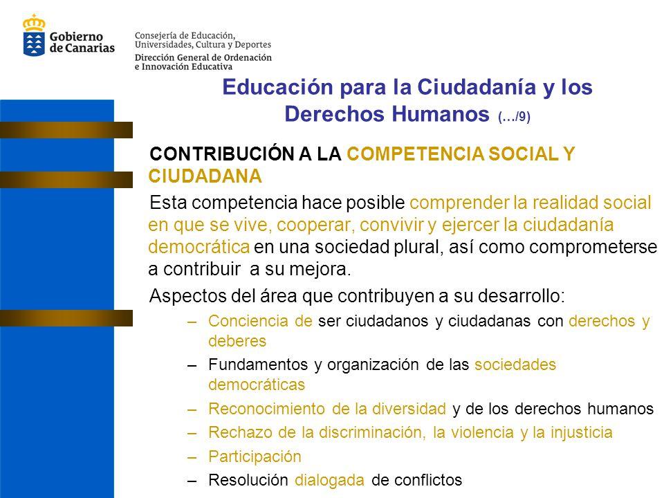 Educación para la Ciudadanía y los Derechos Humanos (…/9)