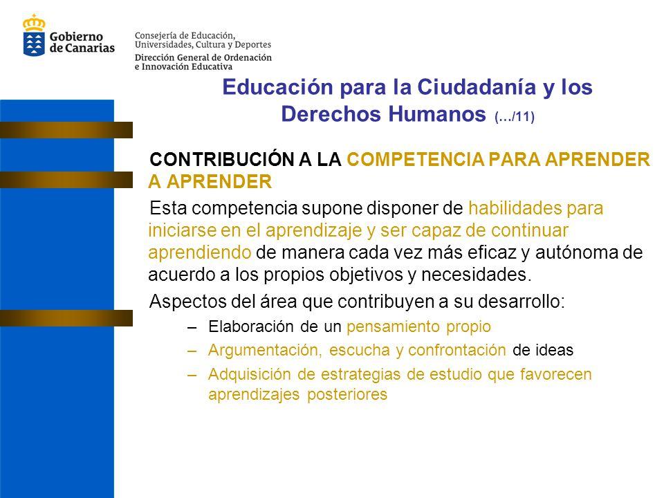 Educación para la Ciudadanía y los Derechos Humanos (…/11)