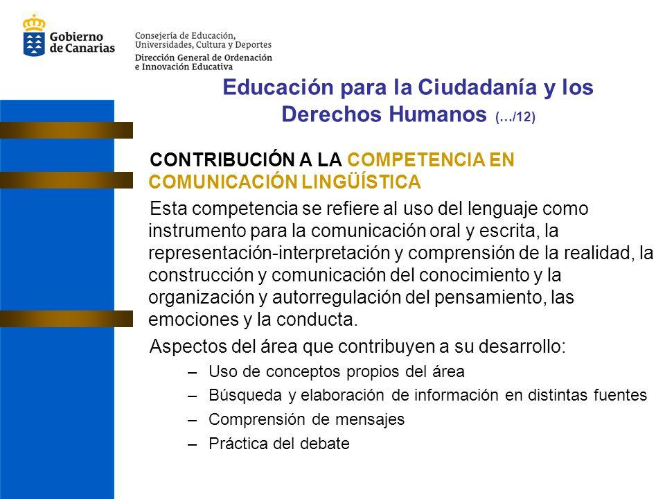 Educación para la Ciudadanía y los Derechos Humanos (…/12)