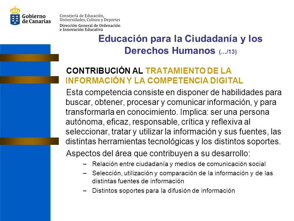 Educación para la Ciudadanía y los Derechos Humanos (…/13)