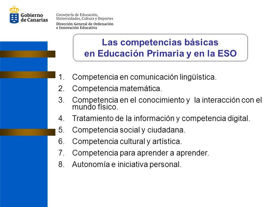 Las competencias básicas en Educación Primaria y en la ESO