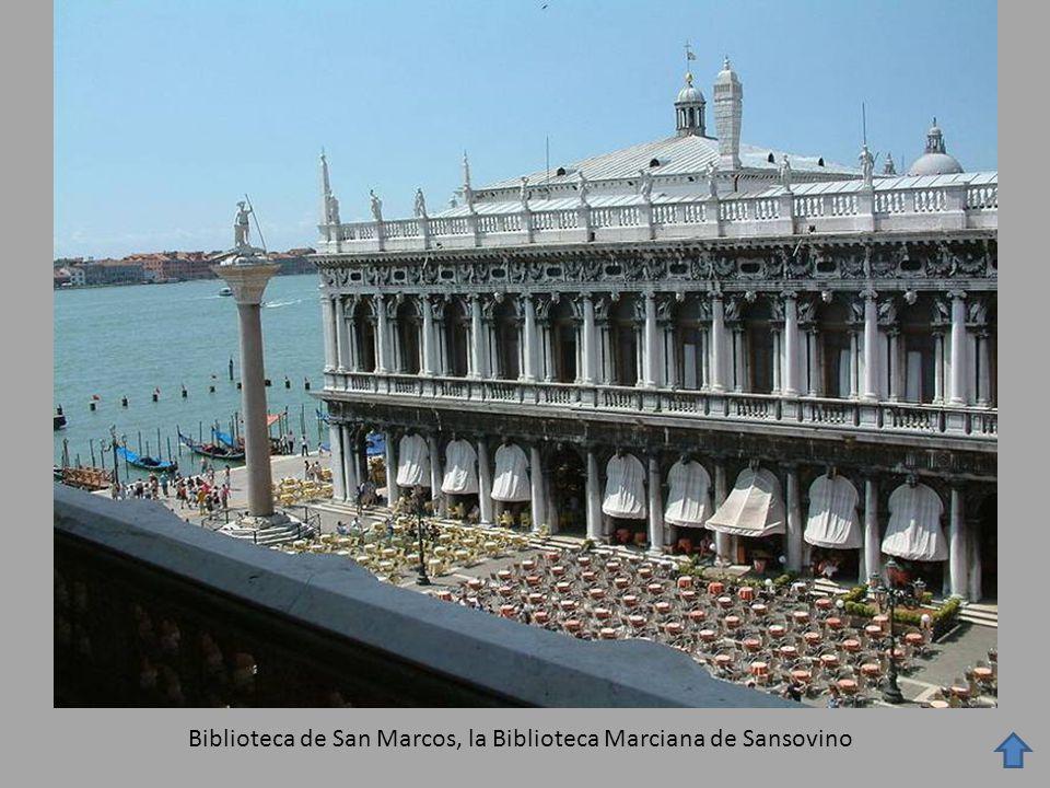 Biblioteca de San Marcos, la Biblioteca Marciana de Sansovino
