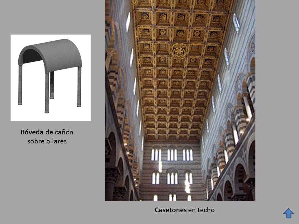 Bóveda de cañón sobre pilares