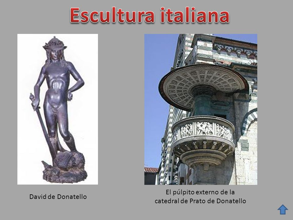 El púlpito externo de la catedral de Prato de Donatello