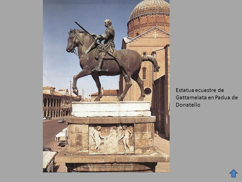 Estatua ecuestre de Gattamelata en Padua de Donatello