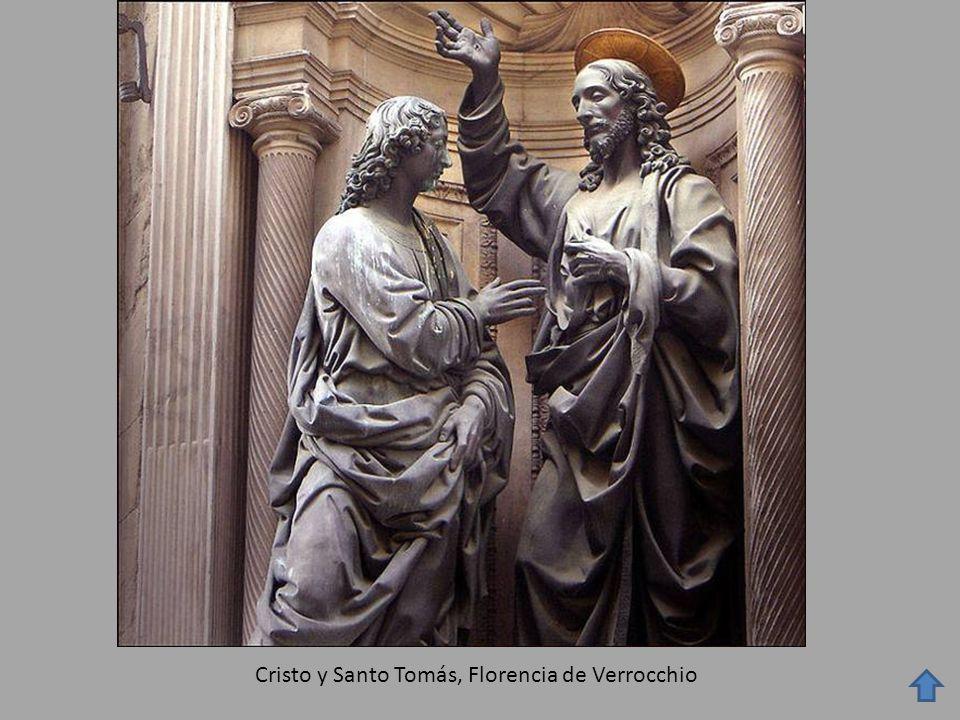 Cristo y Santo Tomás, Florencia de Verrocchio