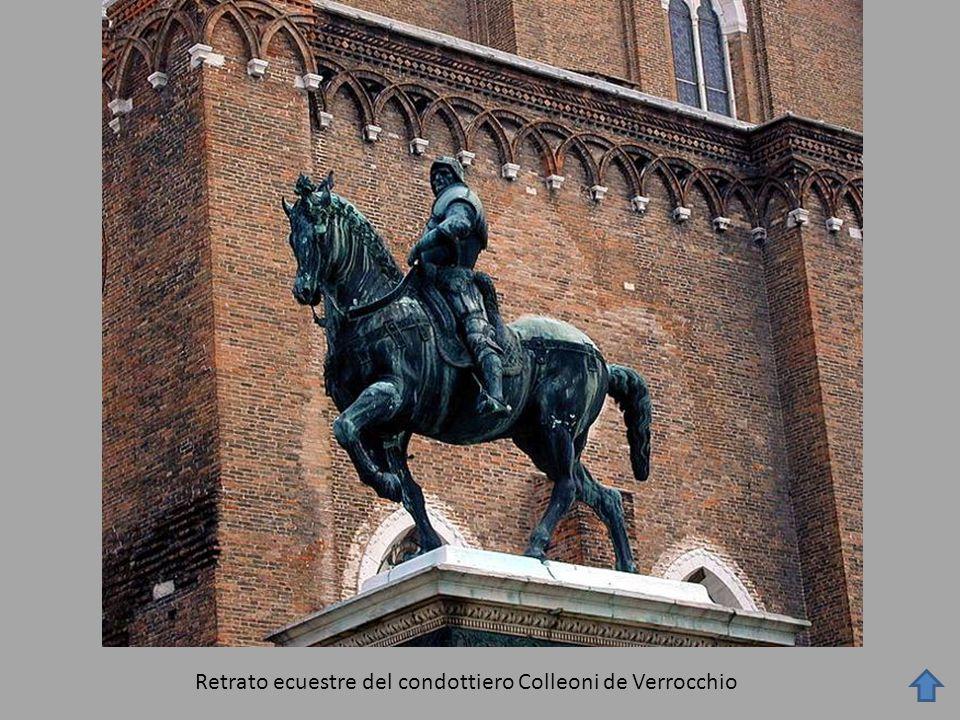 Retrato ecuestre del condottiero Colleoni de Verrocchio