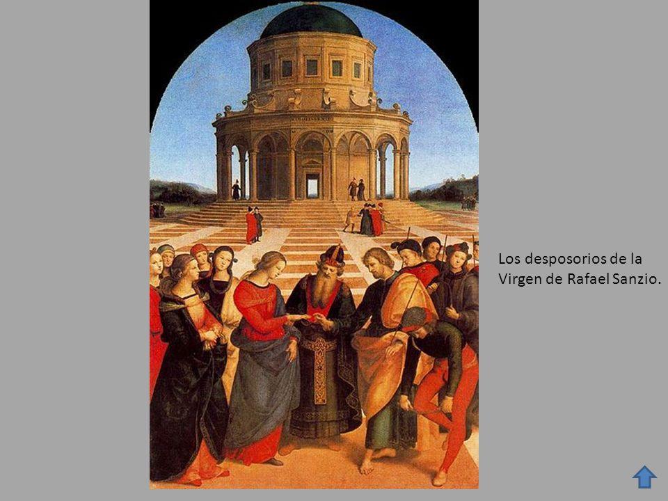 Los desposorios de la Virgen de Rafael Sanzio.