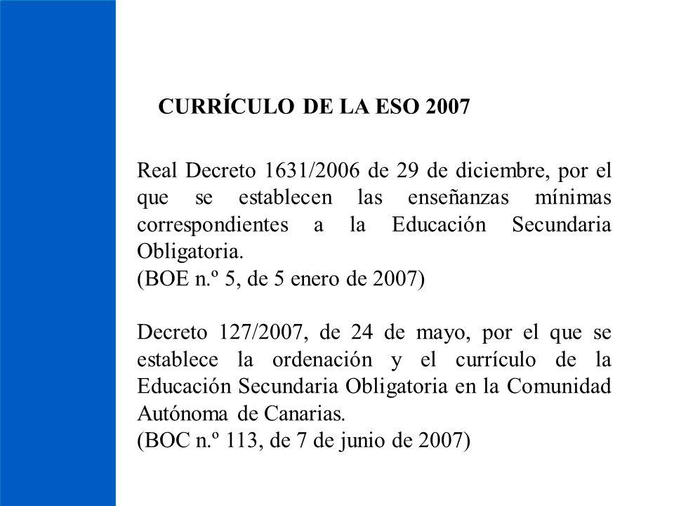 CURRÍCULO DE LA ESO 2007