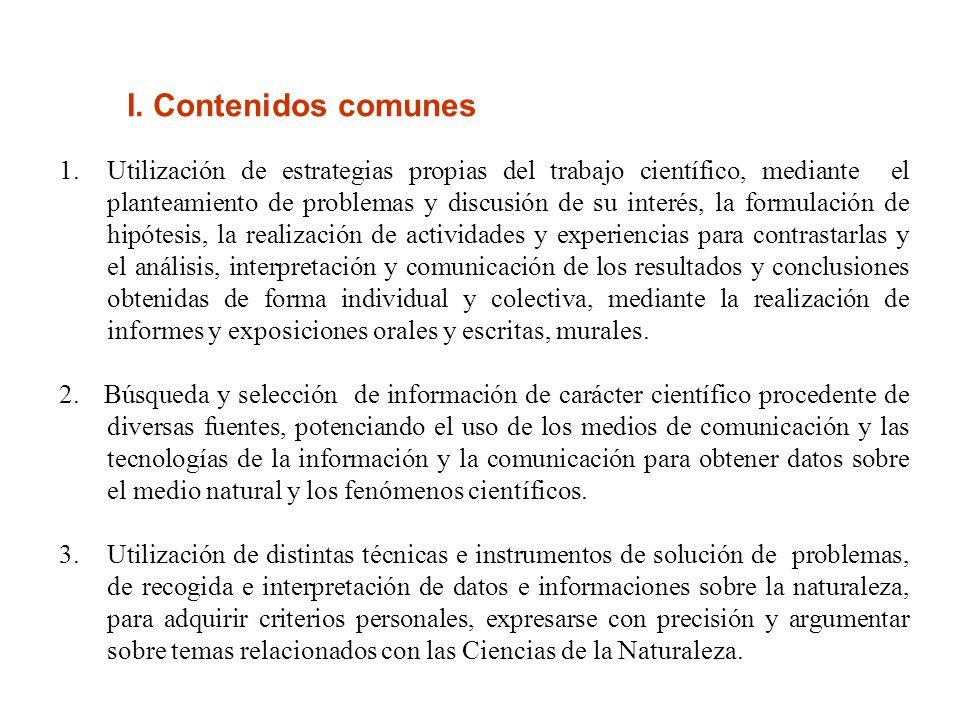 I. Contenidos comunes