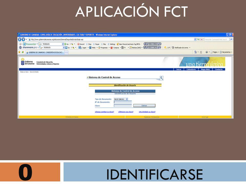 APLICACIÓN FCT IDENTIFICARSE