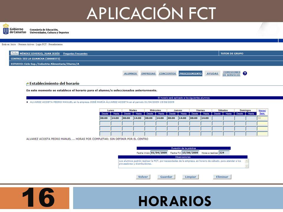 APLICACIÓN FCT 16 HORARIOS