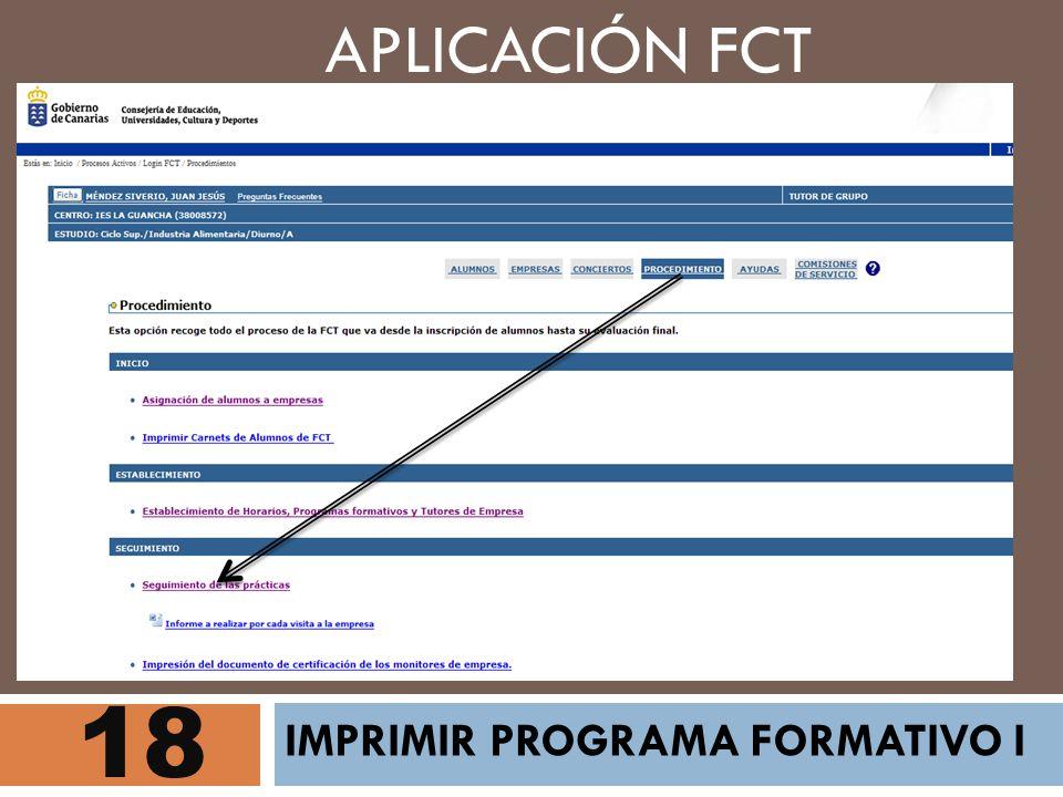 APLICACIÓN FCT 18 IMPRIMIR PROGRAMA FORMATIVO I