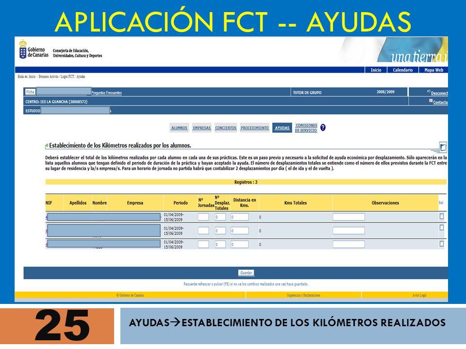 APLICACIÓN FCT -- AYUDAS