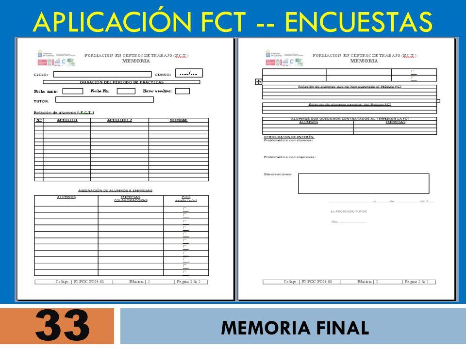 APLICACIÓN FCT -- ENCUESTAS
