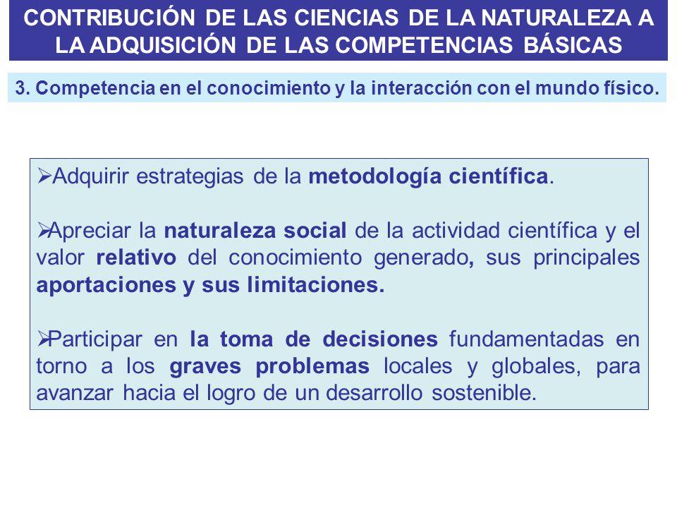 Adquirir estrategias de la metodología científica.