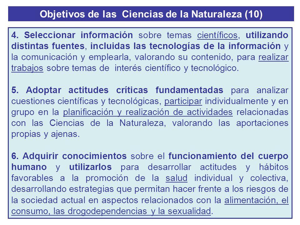 Objetivos de las Ciencias de la Naturaleza (10)